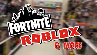 TOY HUNTING!!!! Shopping for NEW Fortnite Toys, Roblox Toys, & MORE @ WalMart & Target