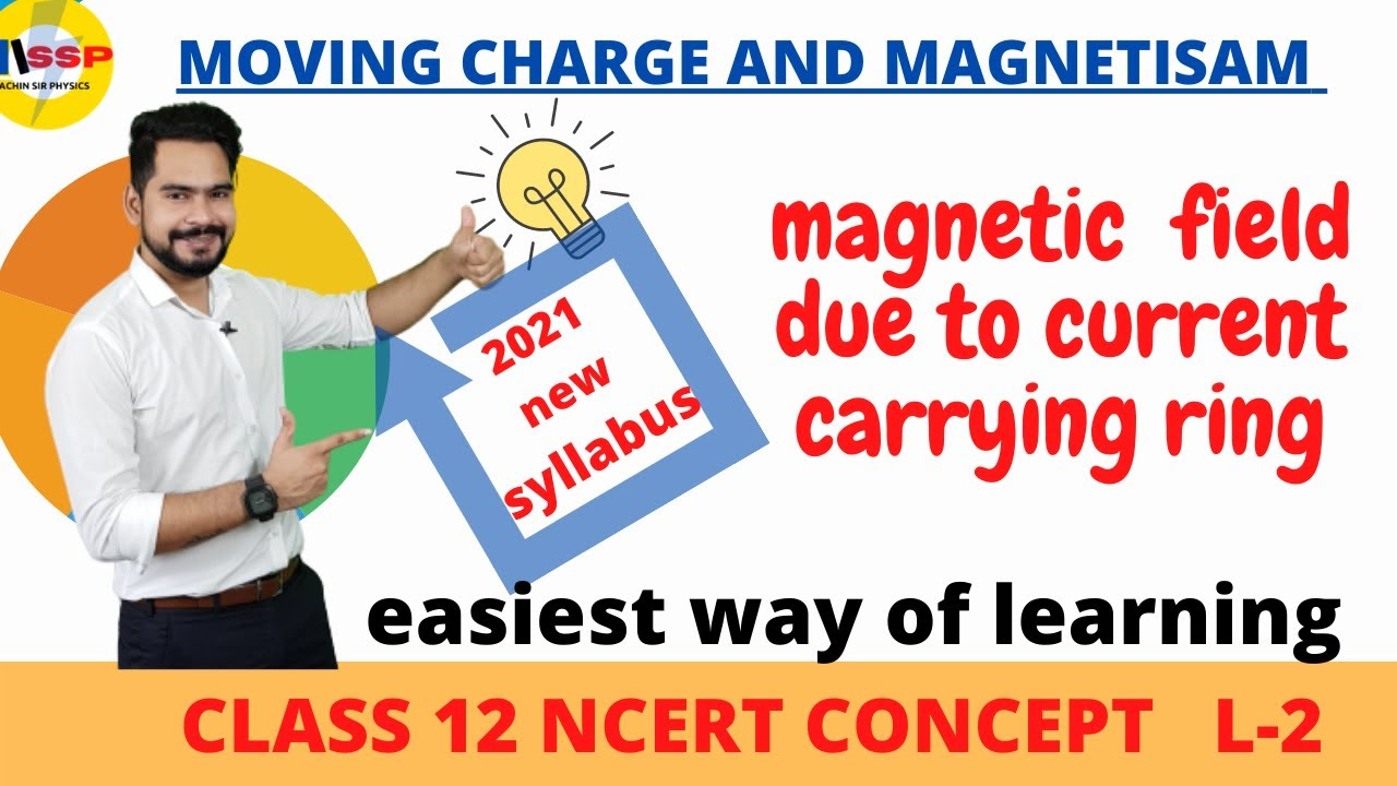 2 Magnetic field due to current carrying ring || special case & ncert example || class 12 physics