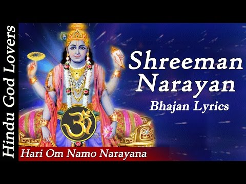 """Hari Om Namo Narayana"" ""Shreeman Narayan Narayan Hari Hari"" ""Narayana Full Song"" "" Bhajan Lyrics"""