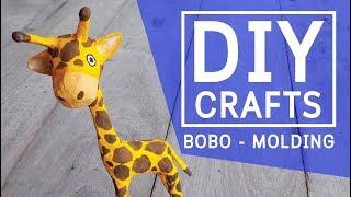 DIY How to make a paper mache giraffe clown cartoon - crafts step by step
