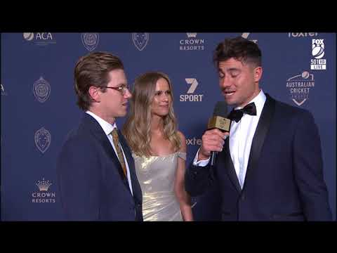 Marcus Stoinis & Adam Zampa - Red Carpet - Australian Cricket Awards 2020