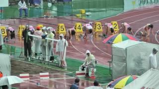女子1部 100m 準決勝1組(-0.1) 1 12.00 Q 足立 紗矢香(3) 青学大 2 12...