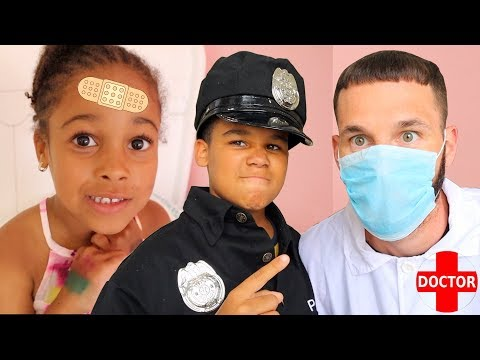 Doctor Daddy and Police Kid Save Cali
