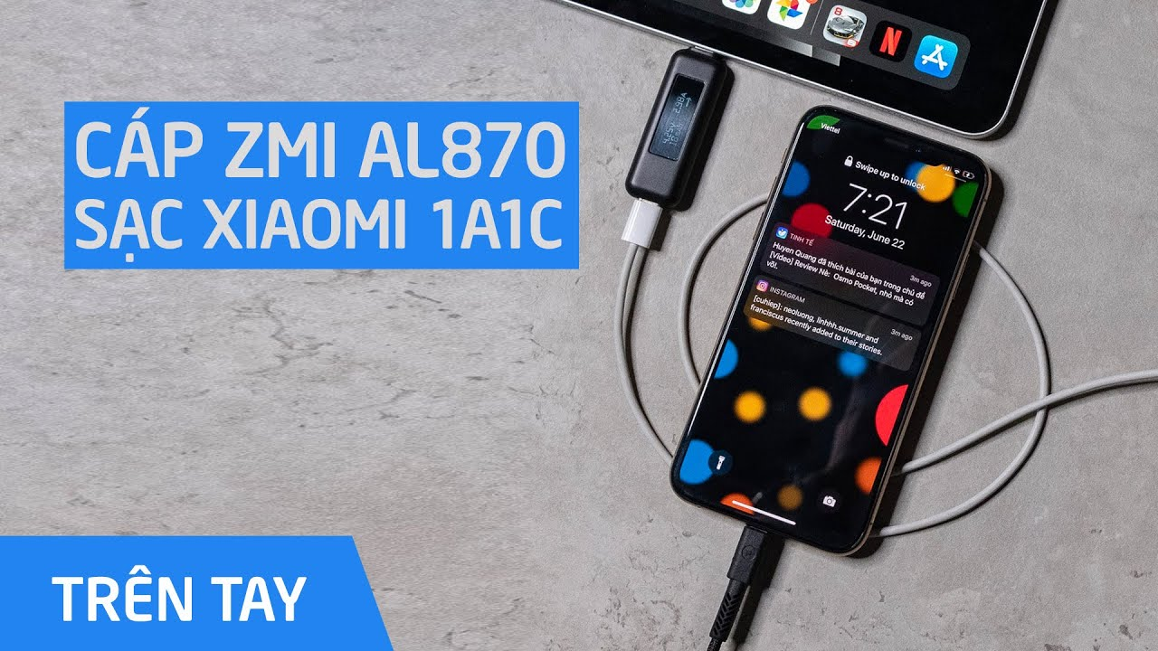 400k cho bộ cáp sạc nhanh iPhone/iPad | Chỉ có thể là Xiaomi & ZMI