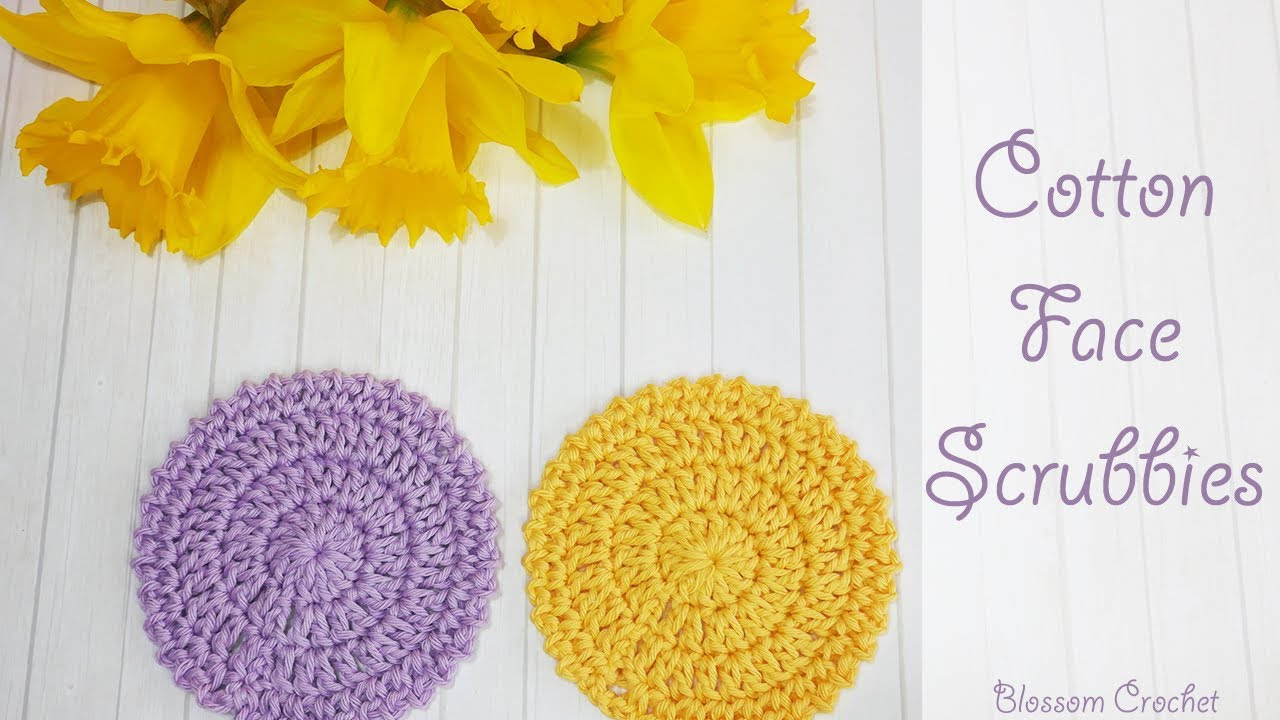 Crochet: Cotton Face Scrubbies - Easy Project! - YouTube