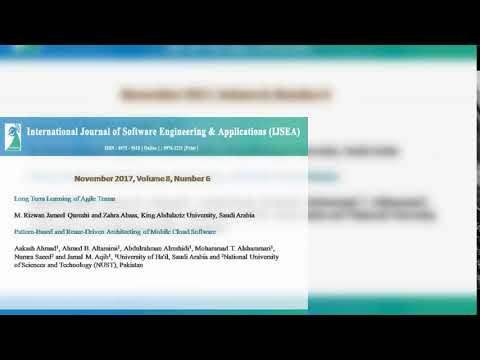 International Journal of Software Engineering & Applications (IJSEA)