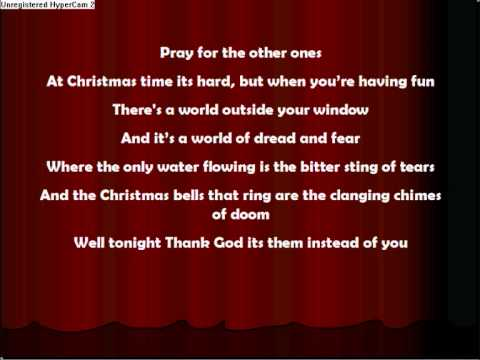 Band Aid - Let Them Know Its Christmas Time (Lyrics) - YouTube