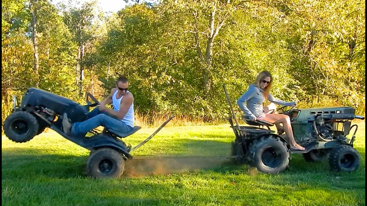 Murray Racing Mower : Tug of war diesel sears tractor vs murray off road mower