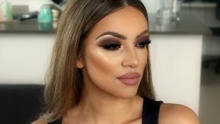 makeover 1 brown smokey eyes full wispy mink lashes   makeupwithjah