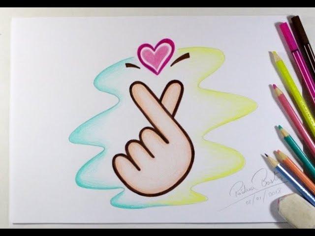 Desenhos Tumblr De Mão Estalando Como Fazer: COMO DESENHAR CORAÇÃO K-POP