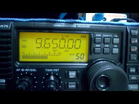 9650 kHz R Guinea, Conakry - Icom IC-R75 and T2FD Antenna