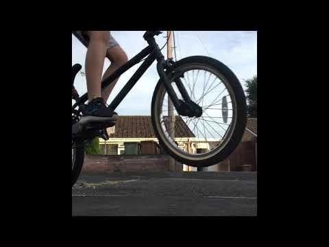 Learning to wheelie my BMX