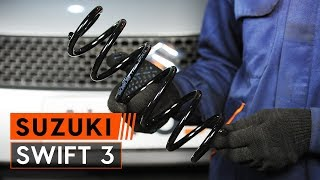 Cómo cambiar la muelles de suspensión trasero en SUZUKI SWIFT 3 [INSTRUCCIÓN AUTODOC]