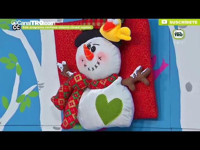 Muñecos navideños con retazos - Hecho con Estilo