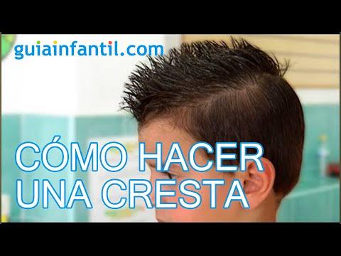 cmo hacer una cresta peinados de nio youtube - Peinados Nios