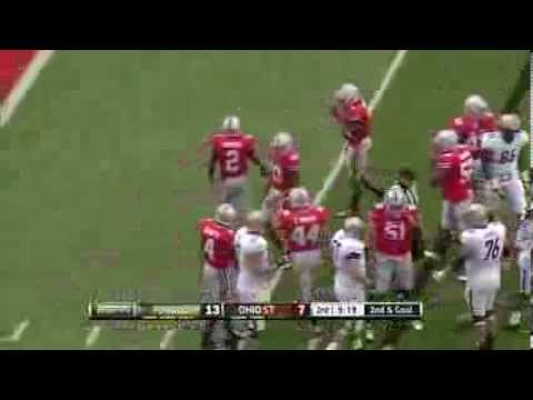 e257a7108 Ryan Shazier huge hit on Purdue Running back-Ohio State Football ...