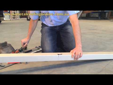 How To Cut Square 100 X 50 Downpipes Metal Roofing