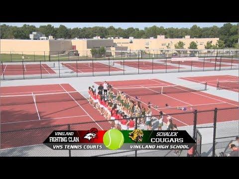 VHS Girls Tennis vs Schalick 2017