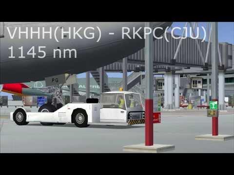 FSX- Flight No.7 [HKG - CJU]