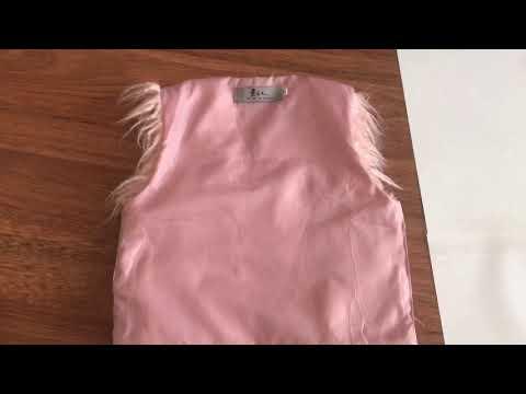 Меховая жилетка для девочки своими руками