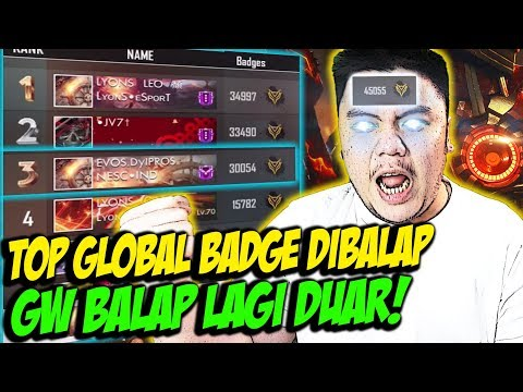 BADGE GW DIBALAP ORANG BRAZIL? TOP GLOBAL BADGE INDONESIA NGAMUK BORONG! - FREE FIRE INDONESIA