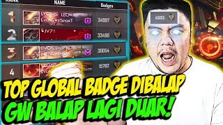 BADGE GW DIBALAP ORANG BRAZIL? TOP GLOBAL BADGE INDONESIA NGAMUK BORONG! - FREE FIRE INDONESIA