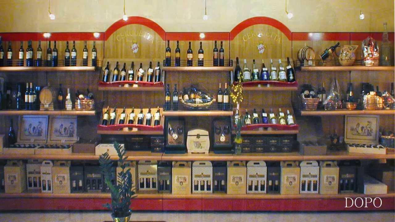 Arredamento negozio vini enoteca prodotti tipici ekip for Idee per arredare enoteca
