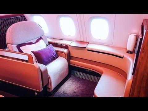 Qatar Airways First Class  - Paris to Doha - Airbus A380 (QR40)