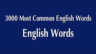 3000 Most Commonly Used English Words - Most Common English Words  Daily English 2017