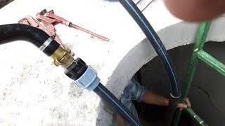 Промывка скважины от бурового раствора.