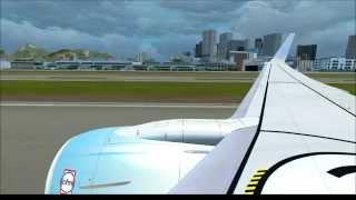 FSX HD - Microsoft Flight Simulator X RIO de JANEIRO Santos Dumont takeoff  737-800 NGX