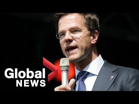 Dutch PM Mark Rutte addresses Canadian parliament