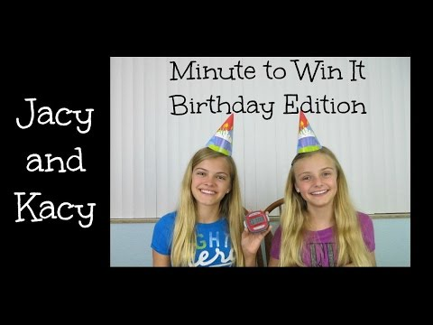 Minute to Win It Challenge ~ Birthday Edition ~ Jacy and Kacy