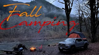 FALL CAMPING IN TΗE PACIFIC NORTHWEST || Olympic National Forest || Tacoma TRD OffRoad