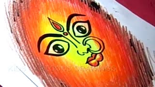 How to Draw Dussehra Greeting Drawing Step by Step for Childrens
