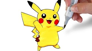 ✎ How to draw Pikachu [Easy]