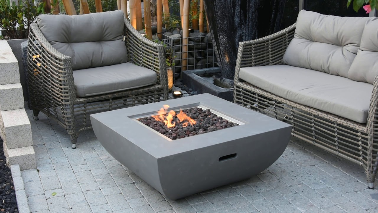 Art Of Fire Modern Concrete Tables We Know Patio
