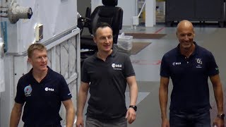 ESA astronauts training in Houston
