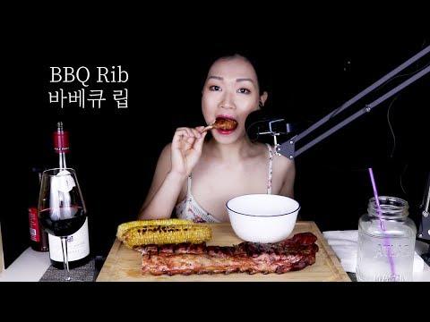 ASMR tender BBQ Rib & Corn 바베큐 립, 옥수수 Red Wine 레드와인 | Q&A at the end