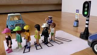 Полицейская машина и автобус мультики для детей про Фоторадар, Пешеходный переход и Светофор