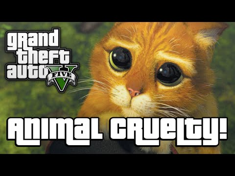GTA V: ANIMAL CRUELTY! (GTA 5 Next Gen...