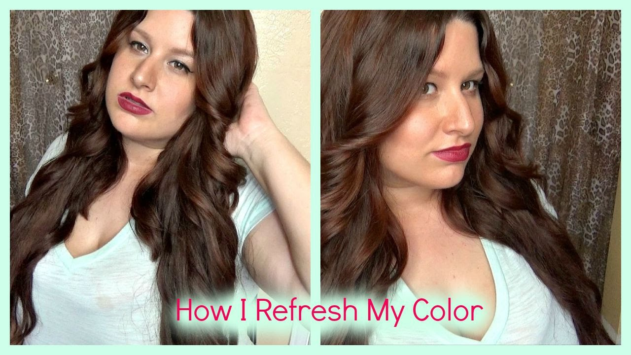 How I Refresh My Hair Color To Match My Hair Extensions Youtube