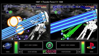 Thunder Force V (Sega Saturn vs PlayStation) Side by Side Comparison