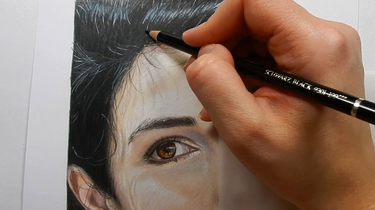 Coloring skin and hair with colored pencils - Part 2 | Emmy Kalia ...