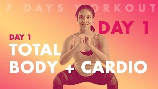 Cara Membakar Lemak Tubuh Dengan Gerakan Total Body Cardio Dalam 7 Hari | Hari Pertama