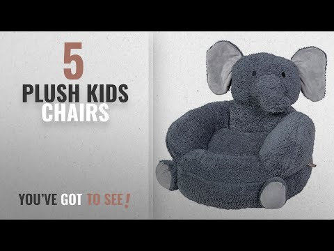Top 10 Plush Kids Chairs [2018]: Trend Lab Children's Plush Character Chair, Elephant/Gray