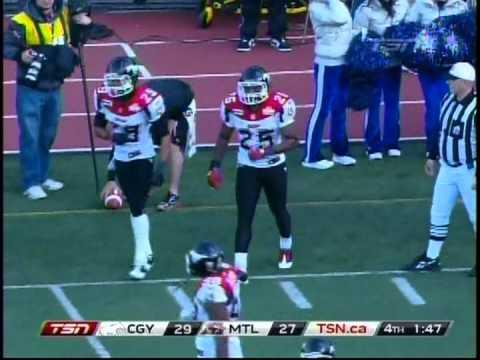 DeVone Claybrooks DL #95  Calgary Stampeders Oct 30 2011 - By Centre 68