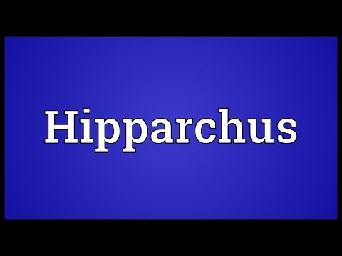 Hipparchus Meaning