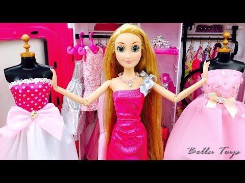 💖POUPEE BARBIE💖PRINCESSE BARBIE RAIPONCE💖CHAMBRE BARBIE ROBES MODE SHOPPING ESSAYAGES VÊTEMENTS