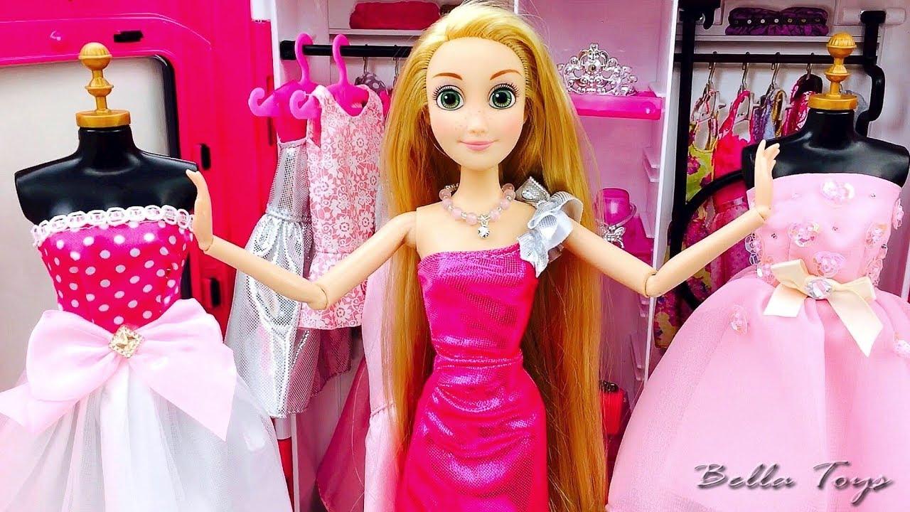 Poupee Barbie Princesse Barbie Raiponce Chambre Barbie Robes